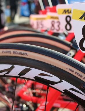 Team Katusha rode 27mm FMB tubulars