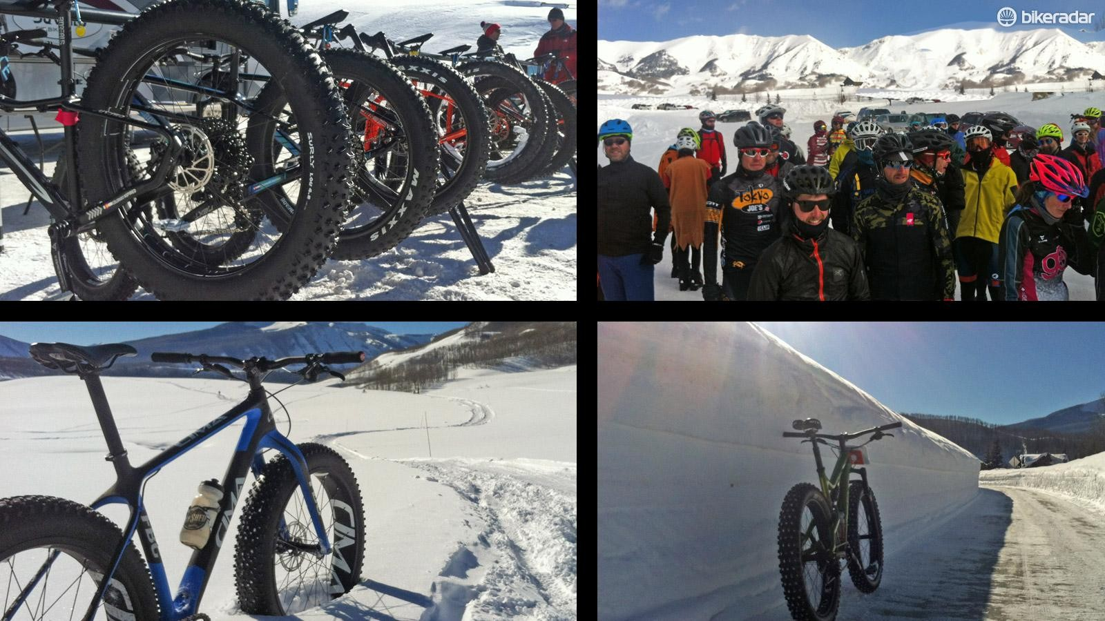 It was seriously chilly at the unofficial fat bike World Champs