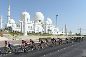 Riders at the Tour of Abu Dhabi