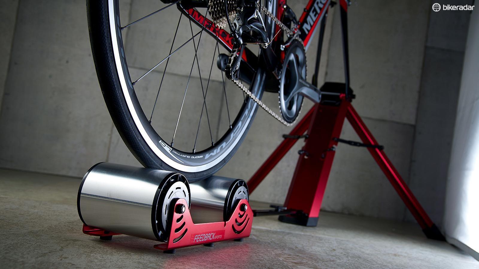 Feedback's Omnium turbo uses rollers instead of a flywheel