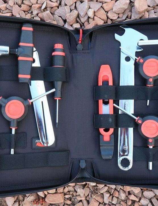 The Ride Prep Tool Kit is perfect for pre-ride tweaks or for learning how to work on your own bicycle