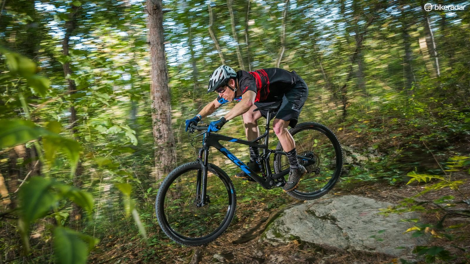 Felt's new Edict frame is a competitive XC weight but it's the dramatic tracking stiffness and efficient yet capable suspension that stands out on the start line or singletrack