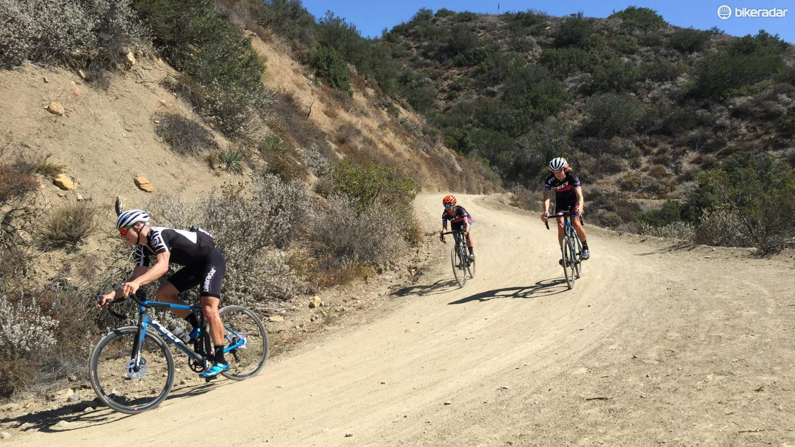 Felt took a group of journalists up and down a local dirt climb to show off the VR