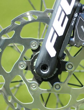 Each frame size gets its own 100x12 carbon fork