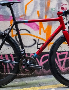 This build, as pictured, comes in at a somewhat eye-watering £12,000, with framesets starting at the £3,400 mark