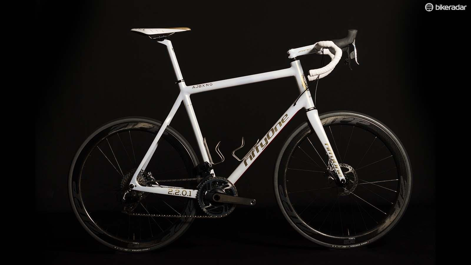 Anthony Joshua's custom bike from frame builders FiftyOne