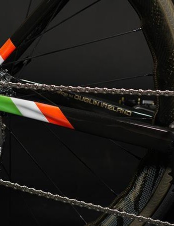 Both FiftyOne and Conor are proud of their Irish heritage, hence the Irish flag and 'Made in Dublin' highlighted in gold