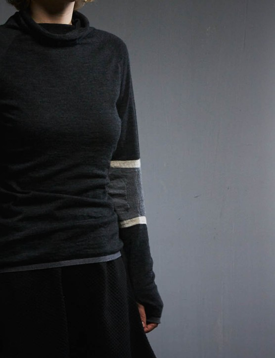The Marin Cowl Neck top, for which Findra won a coveted International Design and Innovation Award in 2016