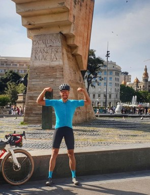 After 2,993 miles and 242,930ft of climbing, Decraene was back in Barcelona where he began