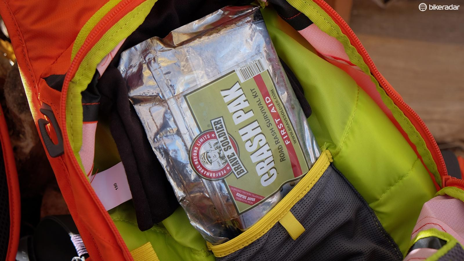 Accidents happen: carry a first aid kit in a waterproof pouch or container