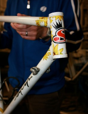 The first Sycip, a lugged beauty with hand-detailed graphics.