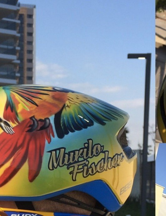 Brazil's Murilo Fischer celebrated the Olymipc Games in his home country with Rio artwork on his gear