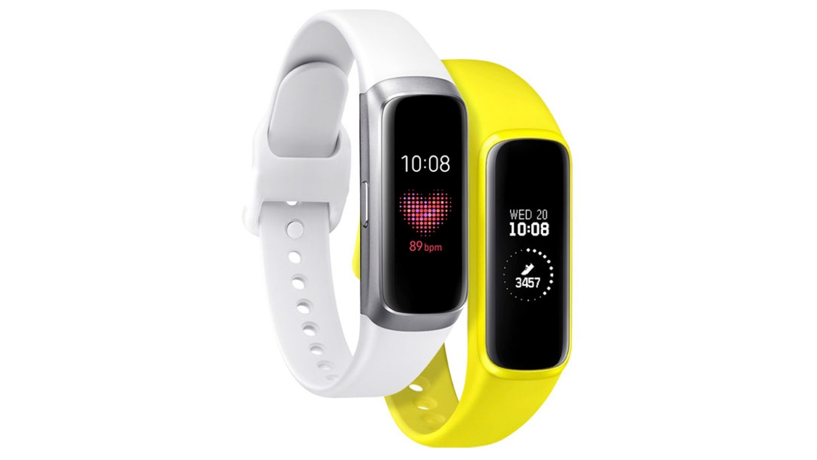 The compact trackers feature built-in optical heart rate and Bluetooth connectivity