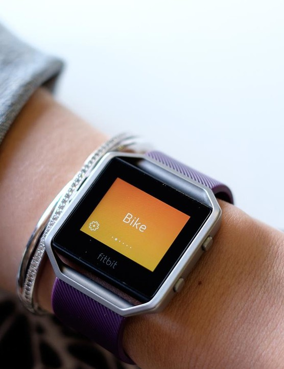 The Fitbit Blaze is a popular alternative to a dedicated bike computer