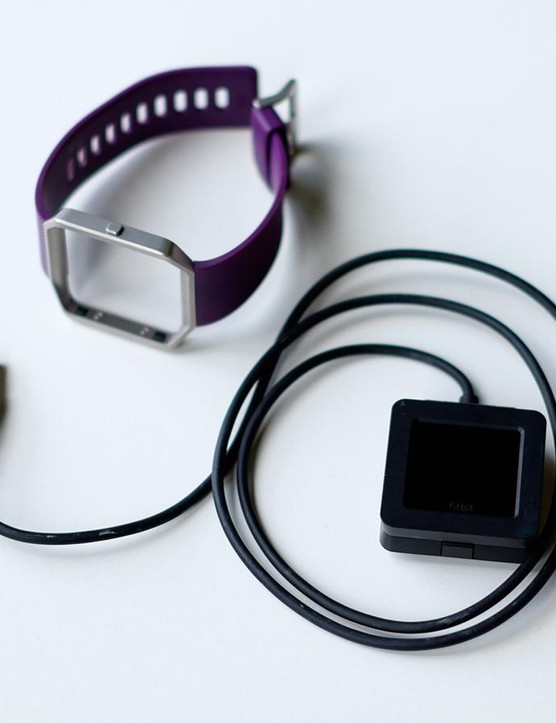 Out of the box you get a USB charging cradle, the Fitbit tracker unit, a sports band and your device's warranty