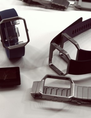 The Fitbit Blaze has interchangeable straps, including metal and leather options