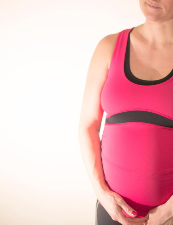 While not cycle specific, the maternity sportwear top from Fitta Mamma worked well for cycling