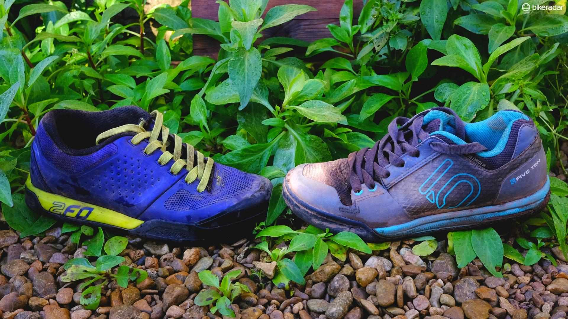 We put the women's Freerider Contact and Specialized 2FO flat pedal shoes to the test