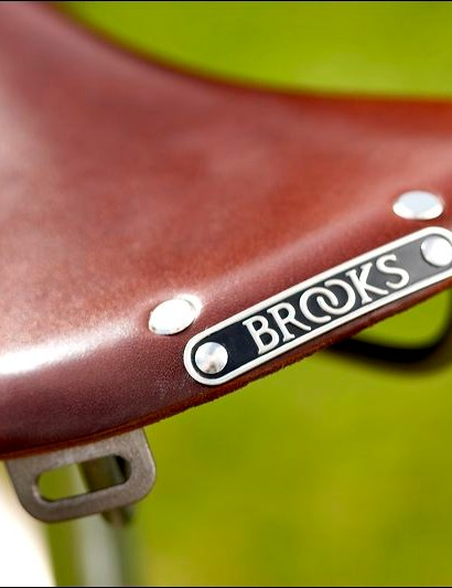 The Brooks saddle is an optional extra, but it fits the Black Jack perfectly