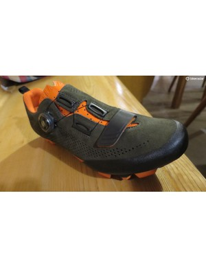 The new Terra X5 with its super-soft and breathable suede upper looks like the ideal gravel and adventure shoe