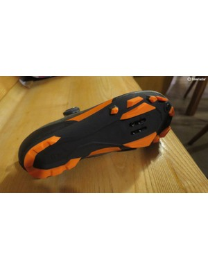 The PU protected carbon sole is designed for grip and to be comfortable when walking