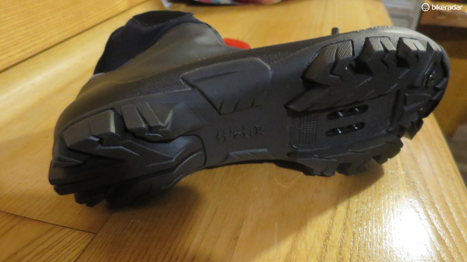 And the X5's sole features much more grip than the standard MTB soles