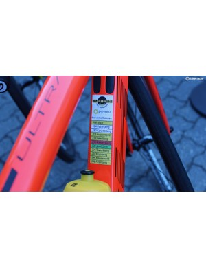 A berg sticker on the *down tube*? We've never seen that one before