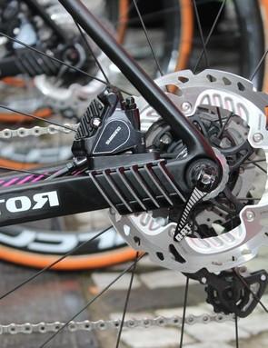 Lampre-Merida is using 160mm Shimano rotors