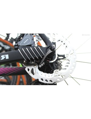 Merida is using the RAT system, which combines the speed of quick release with the stability of a thru axle