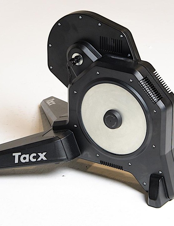 Unlike a lot of smart trainers, the 47lb Tacx Flux has no handle