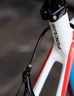 The slender seatstays tame road buzz pretty well