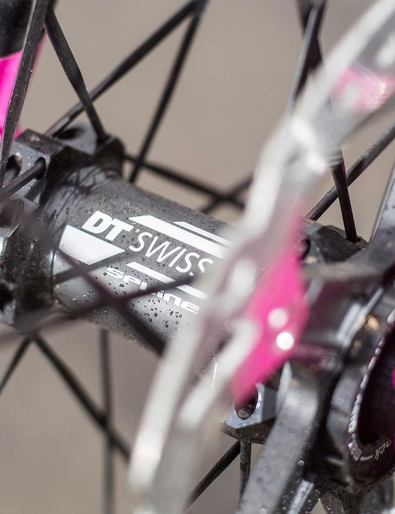 Focus' RAT thru-axle system makes for a responsive connection, and is pretty much as handy as a quick-release