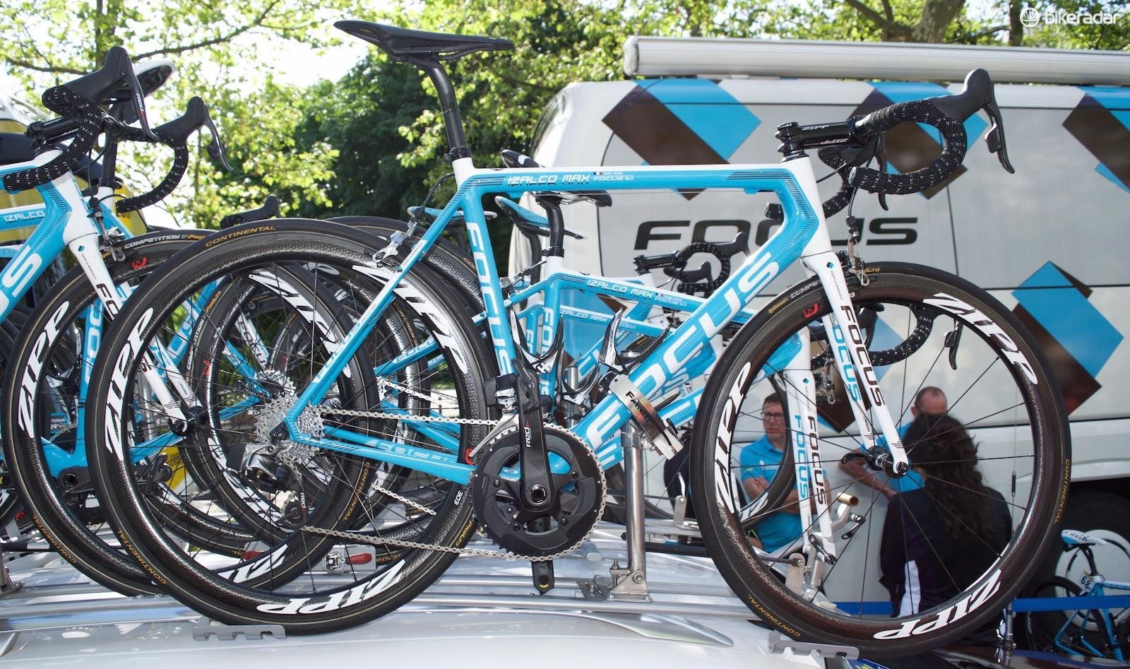 Romain Bardet's Focus Izalco Max, equipped with SRAM Red eTap