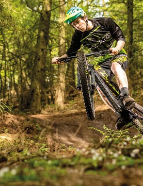 The stout fork and powerful brakes do a good job of controlling speed and direction