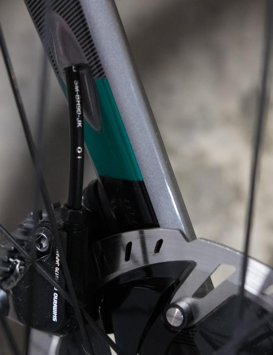 There's lots of integration including internal cable routing