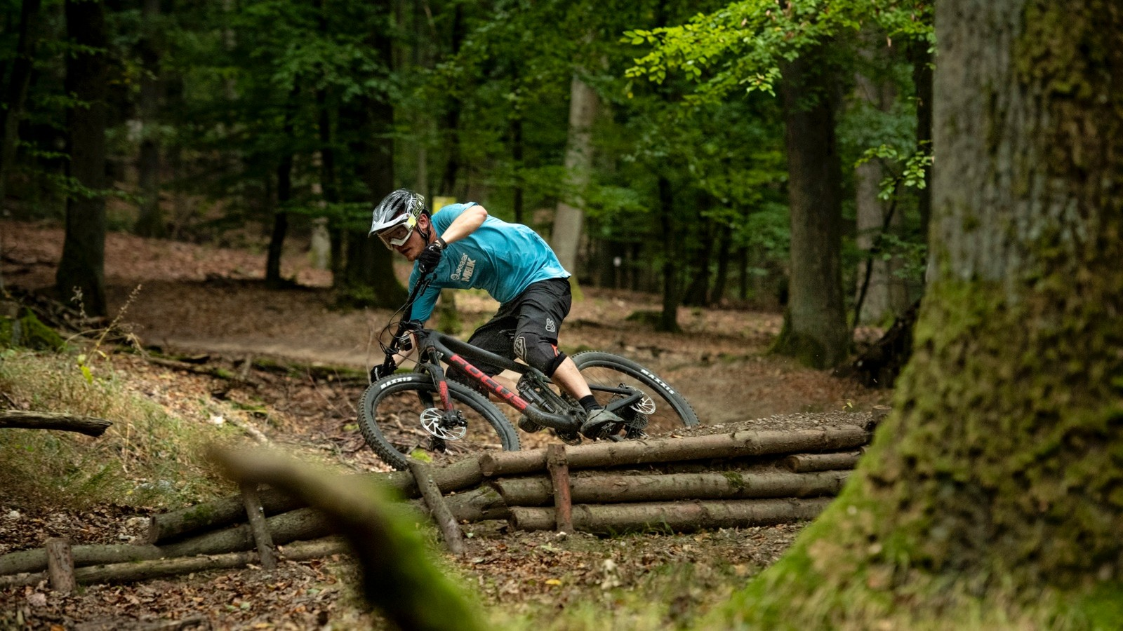 I spent a morning riding the bike in a relatively smooth bike park
