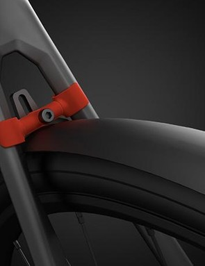 The clip-on seat stay bridge means full dedicated mudgards can be fitted (and are included in the price of the bike)