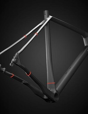 The red zones on the Paralane's frame show where comfort-giving flex is designed in