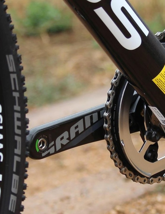 Focus bolts its chain guard onto the frame with an ISCG-05 design borrowed from mountain bikes