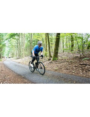 The supple nature of the frameset makes short work of rough gravelled surfaces