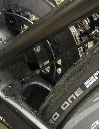 The seat tube flattens considerably just above the BB shell