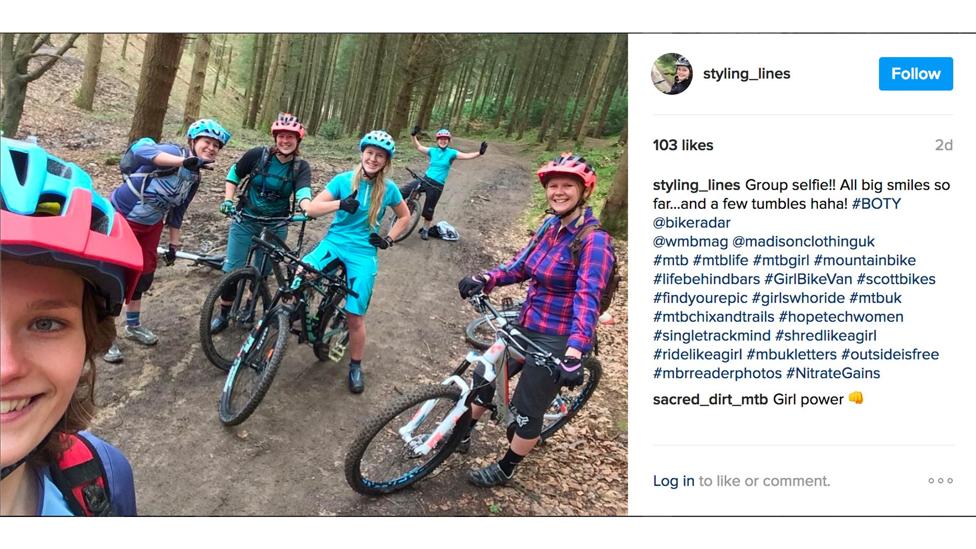 Fun on the trails! Check out the @bikeradar Instagram account for more pics from the weekend