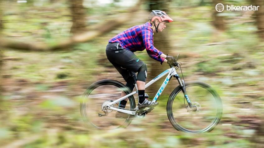 Jenni getting some speed on in the FOD