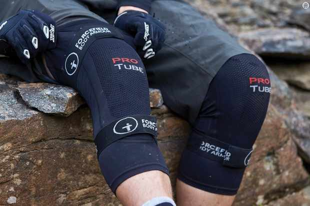 These sleeve-style pads from Forcefield are advertised for use on your knees or elbows