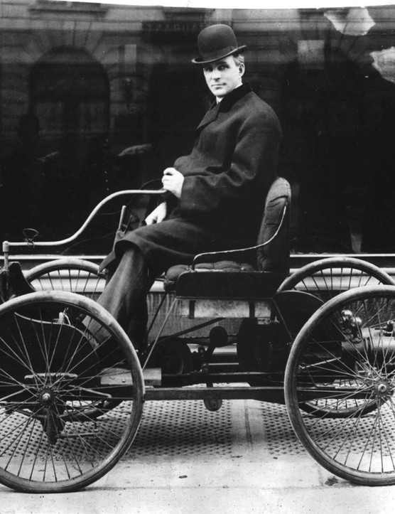 Ford's first ever car, the Quadricycle, used bicycle wheels and tires