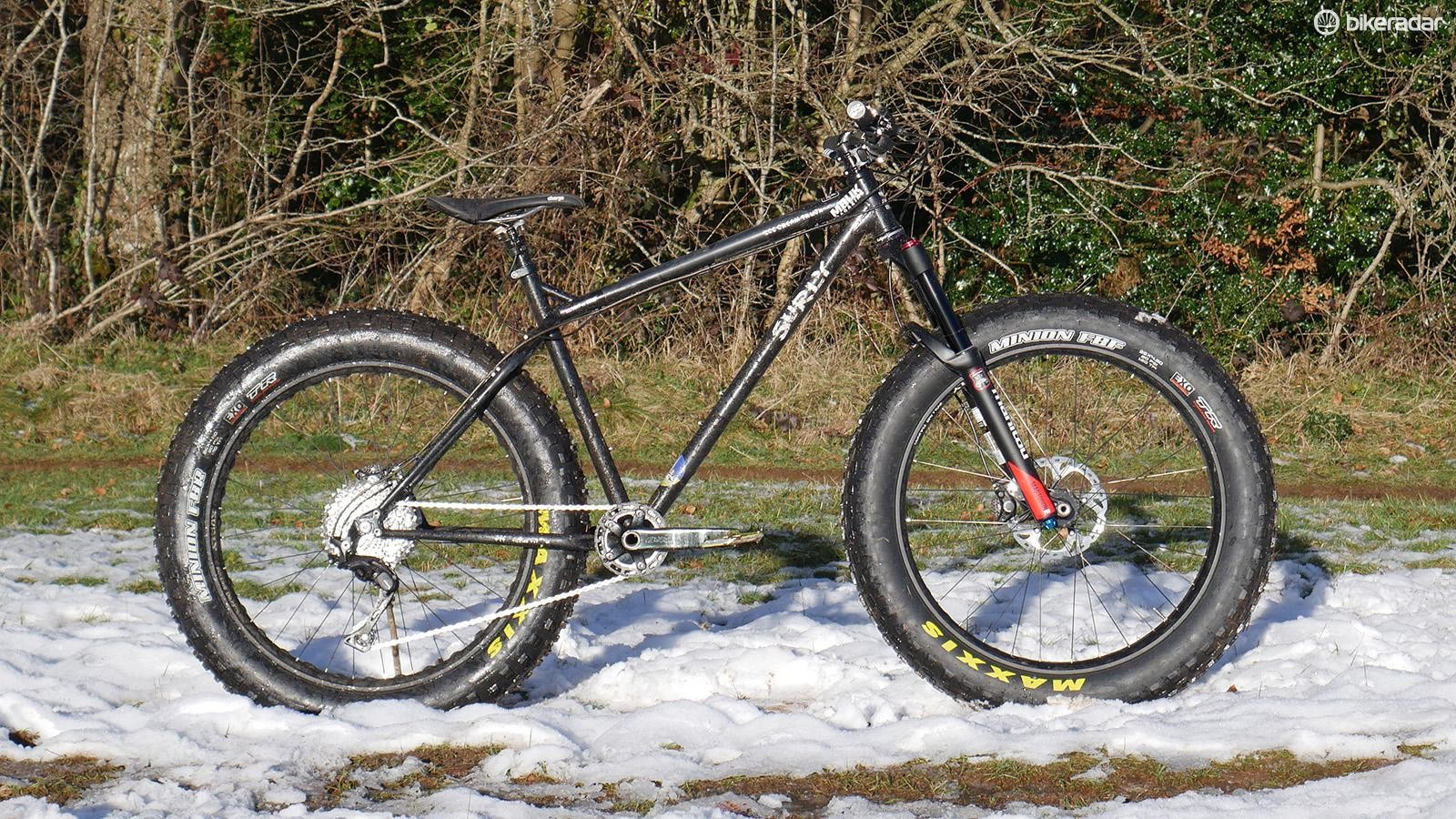 Manitou's Mastodon Pro fitted to my Surly test bike