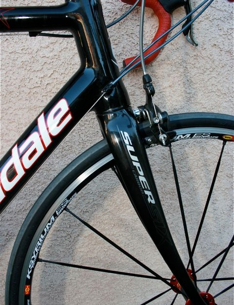 Sleek, light and strong all-carbon fork.