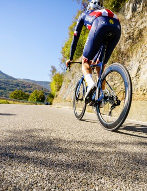 Larry Warbasse trains on the 3T Strada
