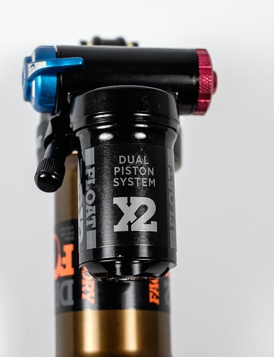 The Dual Position System contains the separate compression and rebound pistons