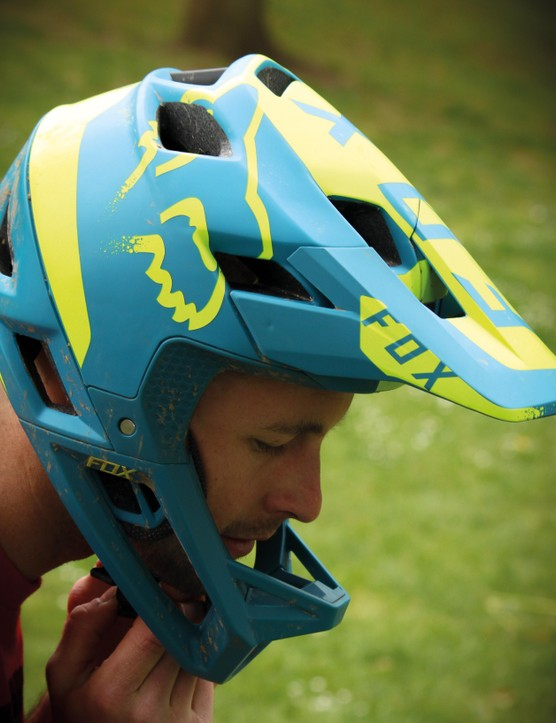 The Fox Proframe helmet